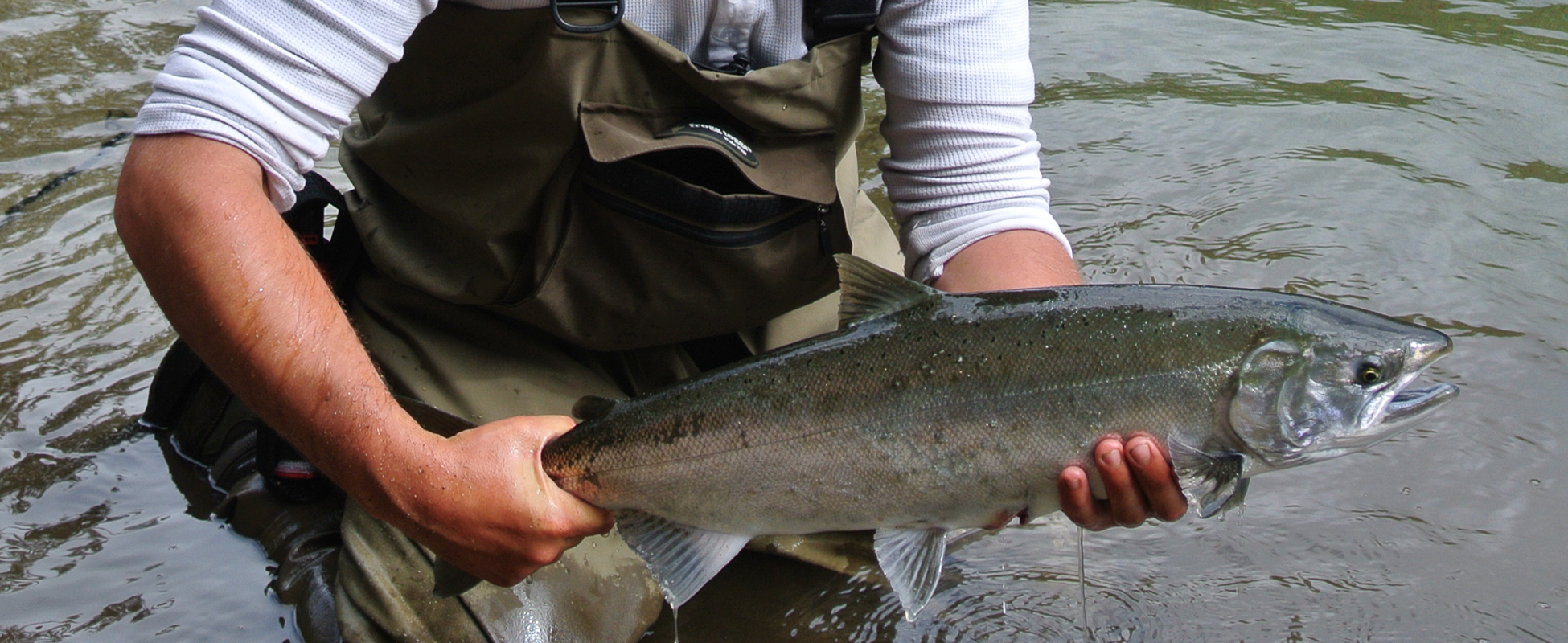 remote river fishing